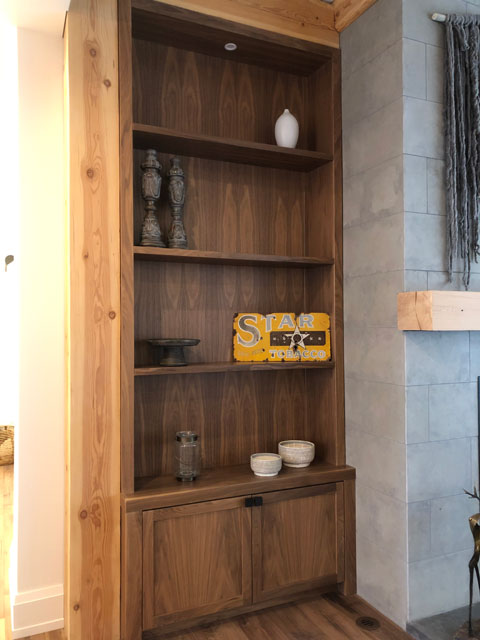 Custom Millwork - Custom Woodwork - Bookshelf