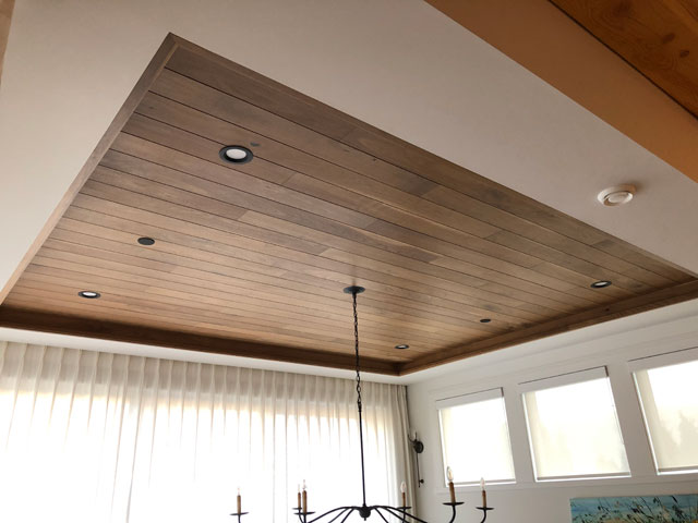 Custom Millwork - Custom Woodwork - Ceiling Feature