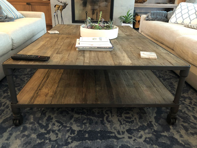 Custom Millwork - Custom Woodwork - Double Coffee Table