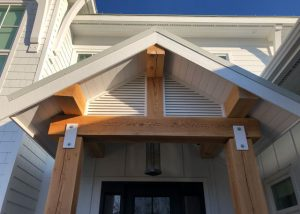 Custom Millwork - Custom Woodwork - Post and Beam Entrance