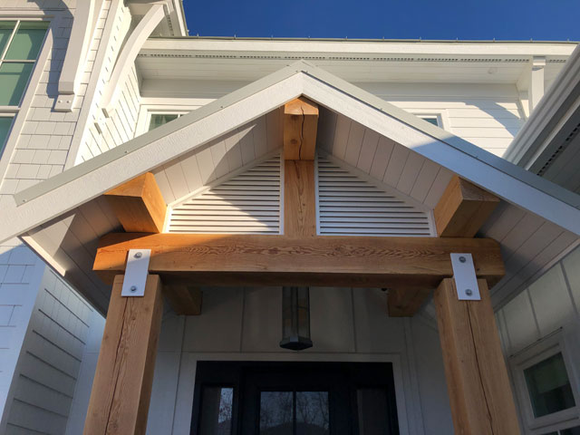 Custom Millwork - Custom Woodwork - Post and Beam Entrance